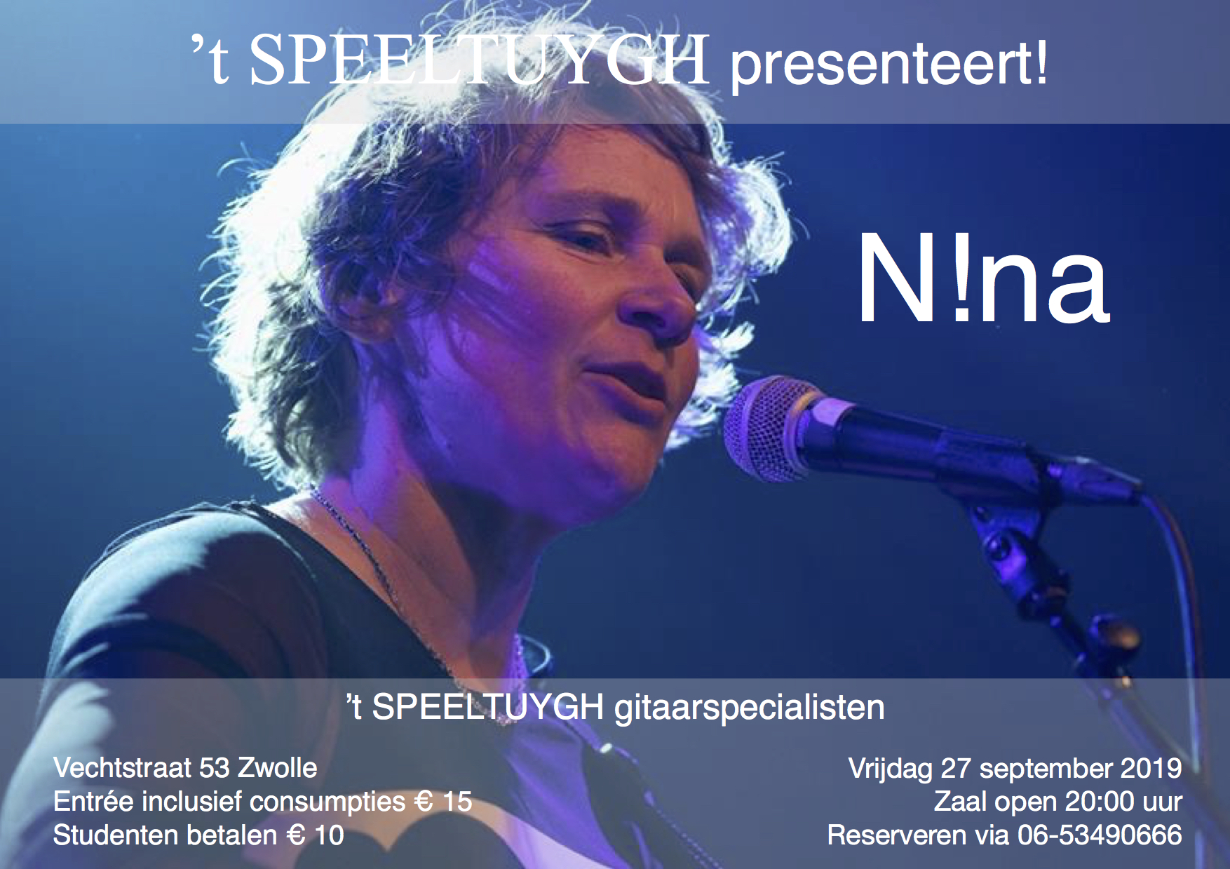 't SPEELTUYGH septemberconcert: N!ina