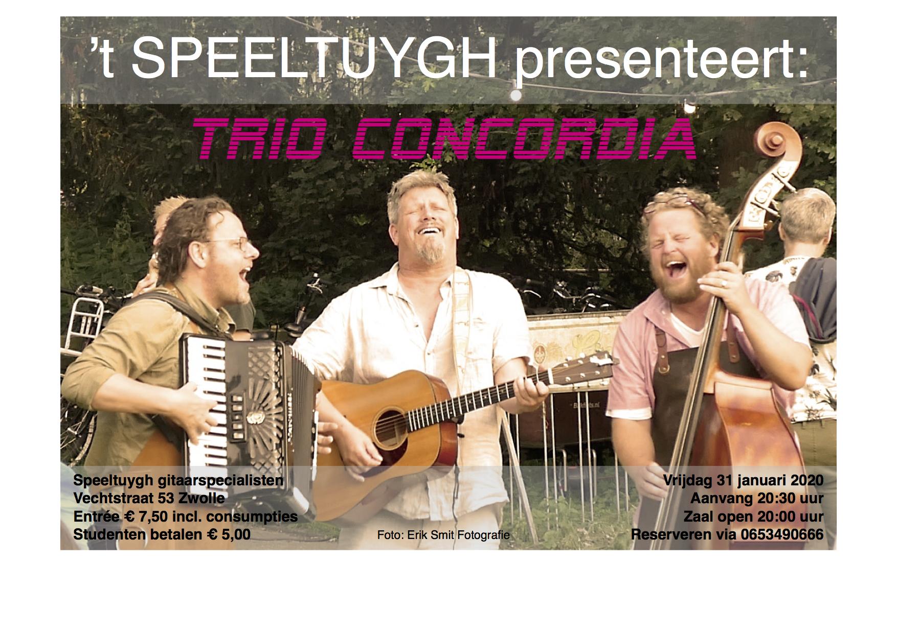 't SPEELTUYGH presenteert: Trio Concordia